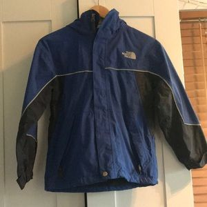 Boys blue North face winter jacket